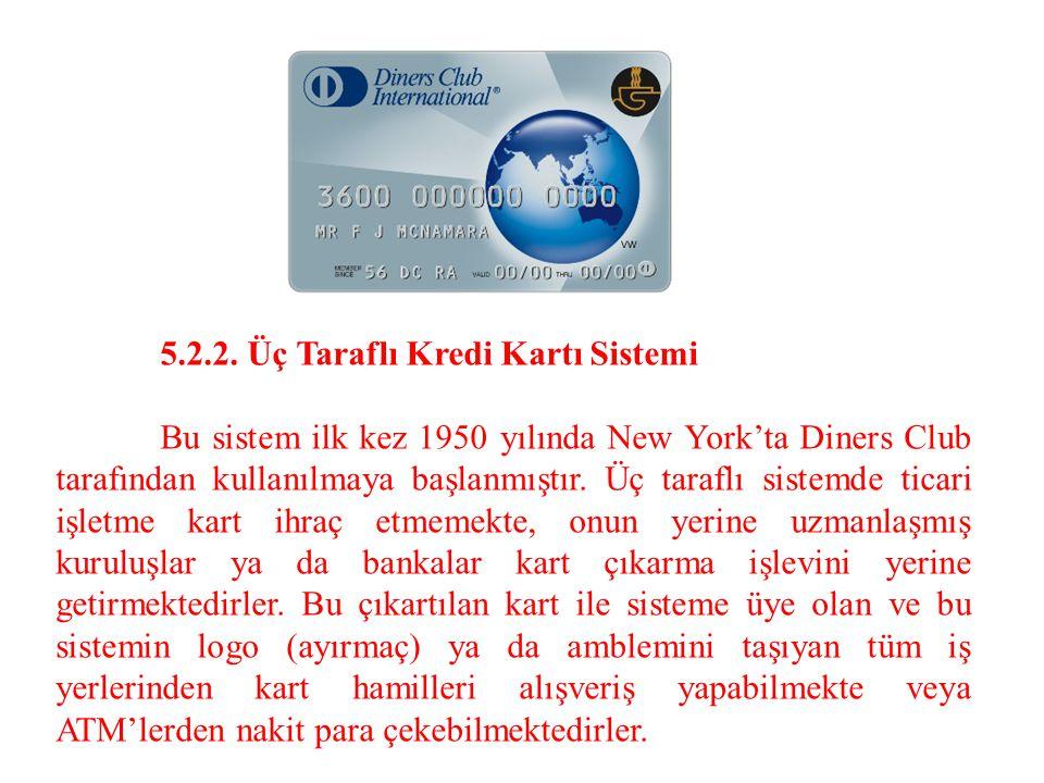 5.2.2. Üç Taraflı Kredi Kartı Sistemi