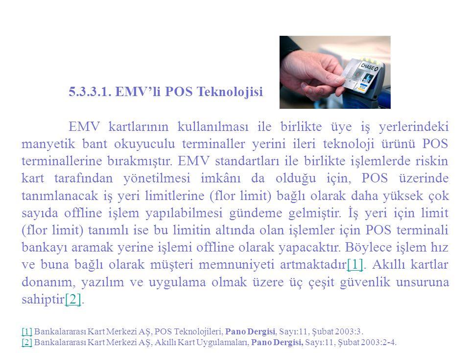 5.3.3.1. EMV'li POS Teknolojisi