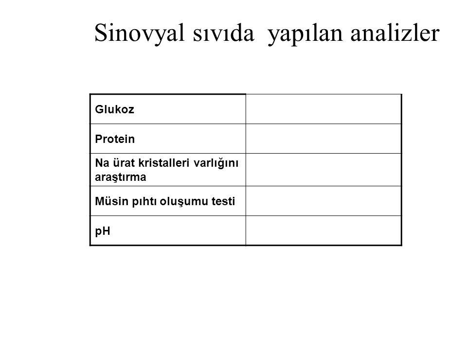 Sinovyal sıvıda yapılan analizler