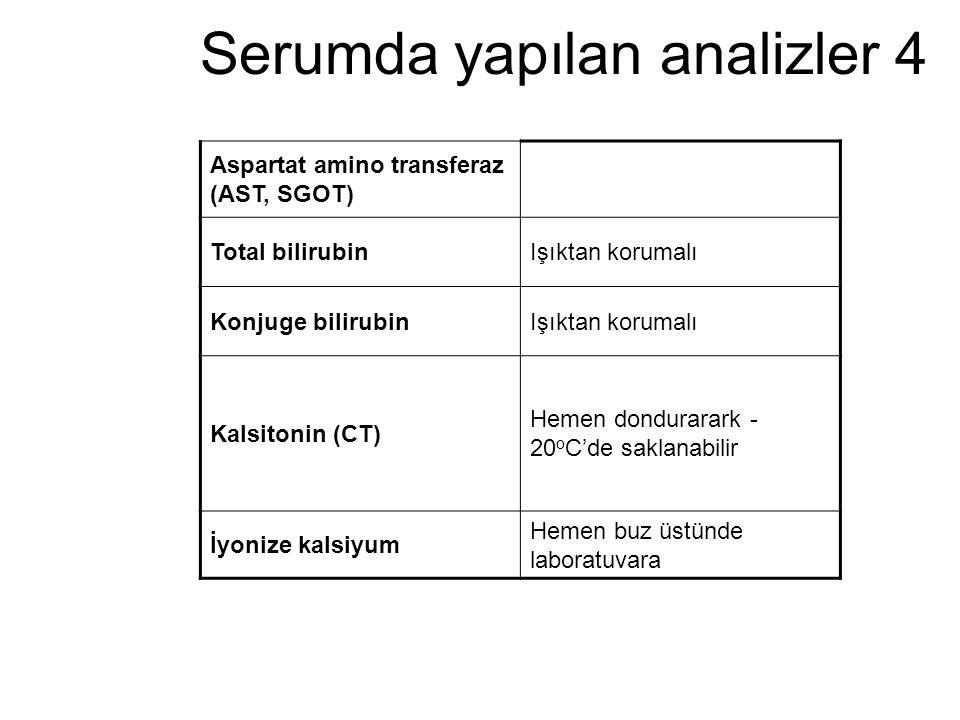 Serumda yapılan analizler 4