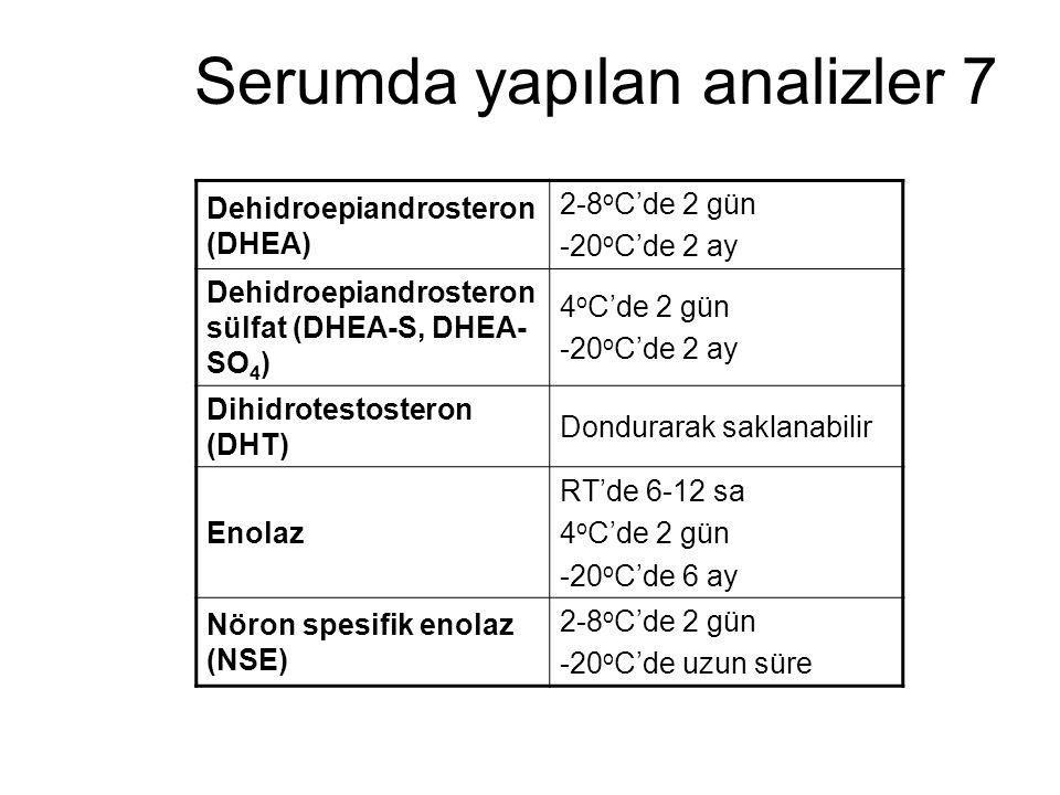 Serumda yapılan analizler 7