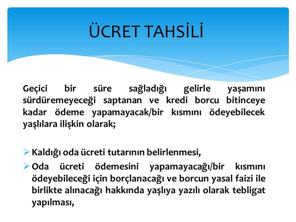 ÜCRET TAHSİLİ