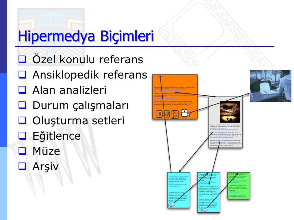 Hipermedya Biçimleri Özel konulu referans Ansiklopedik referans