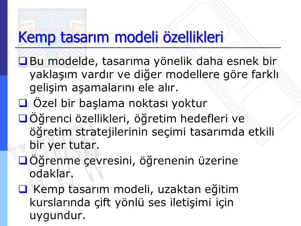 Kemp tasarım modeli özellikleri