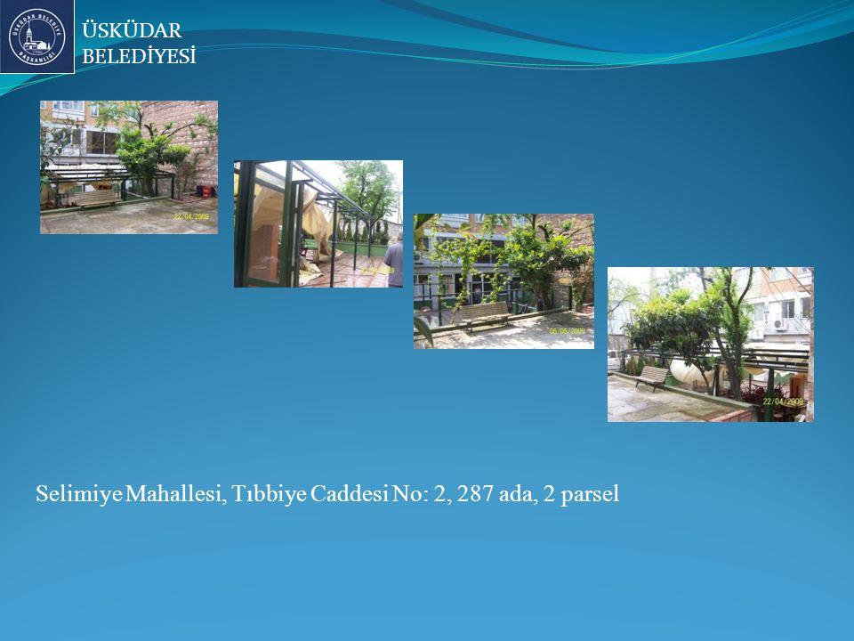 Selimiye Mahallesi, Tıbbiye Caddesi No: 2, 287 ada, 2 parsel