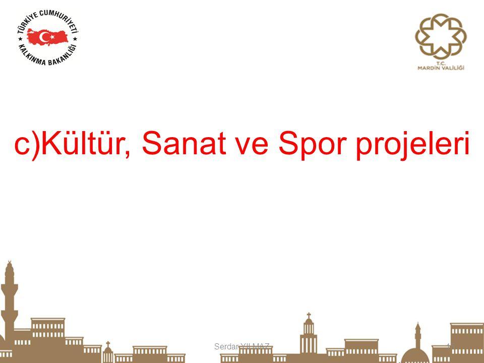 c)Kültür, Sanat ve Spor projeleri