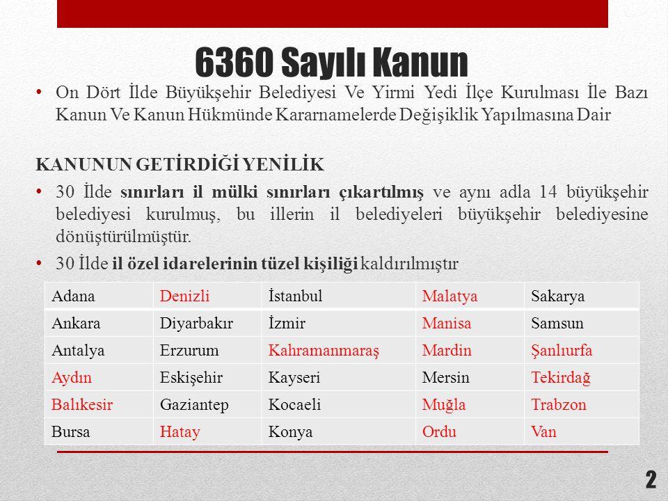 6360 Sayılı Kanun