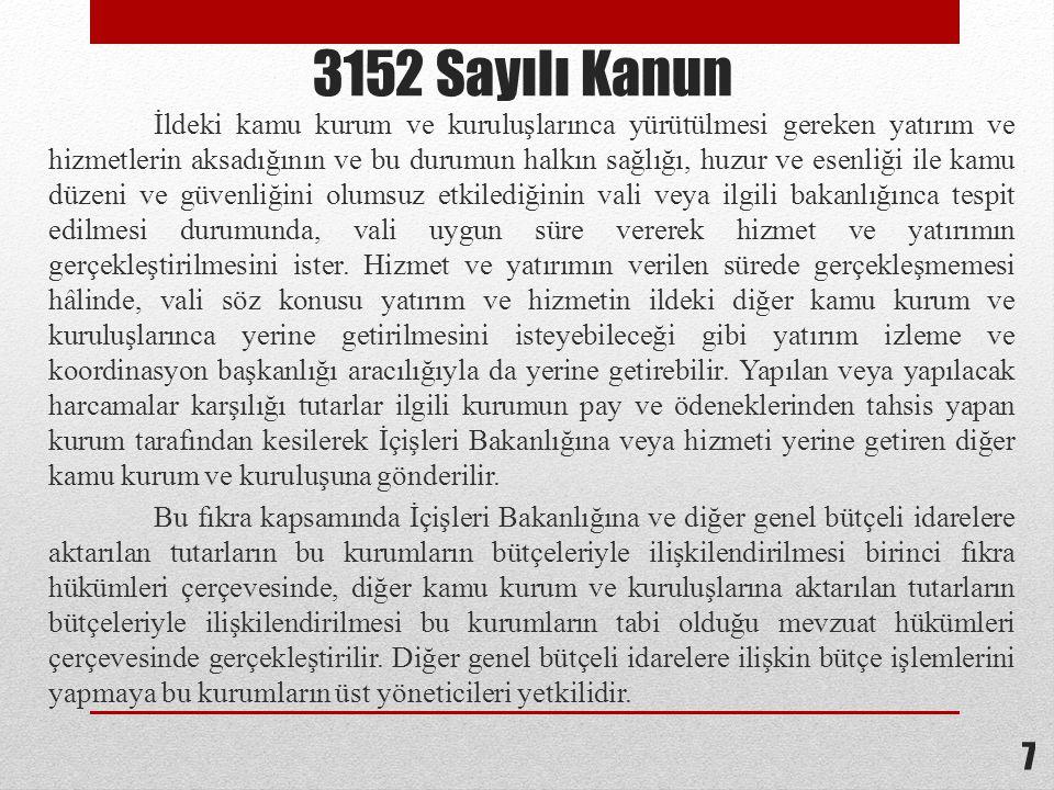 3152 Sayılı Kanun