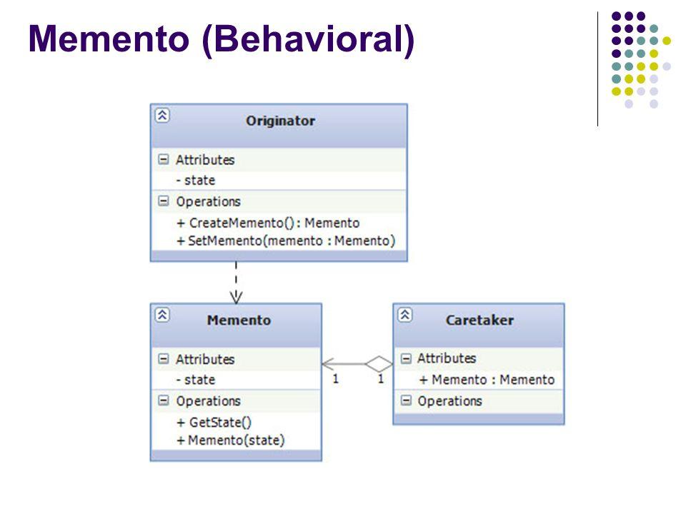 Memento (Behavioral)