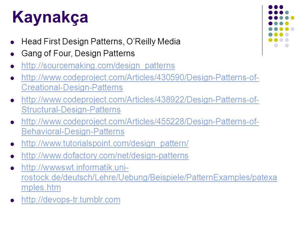 Kaynakça Head First Design Patterns, O'Reilly Media