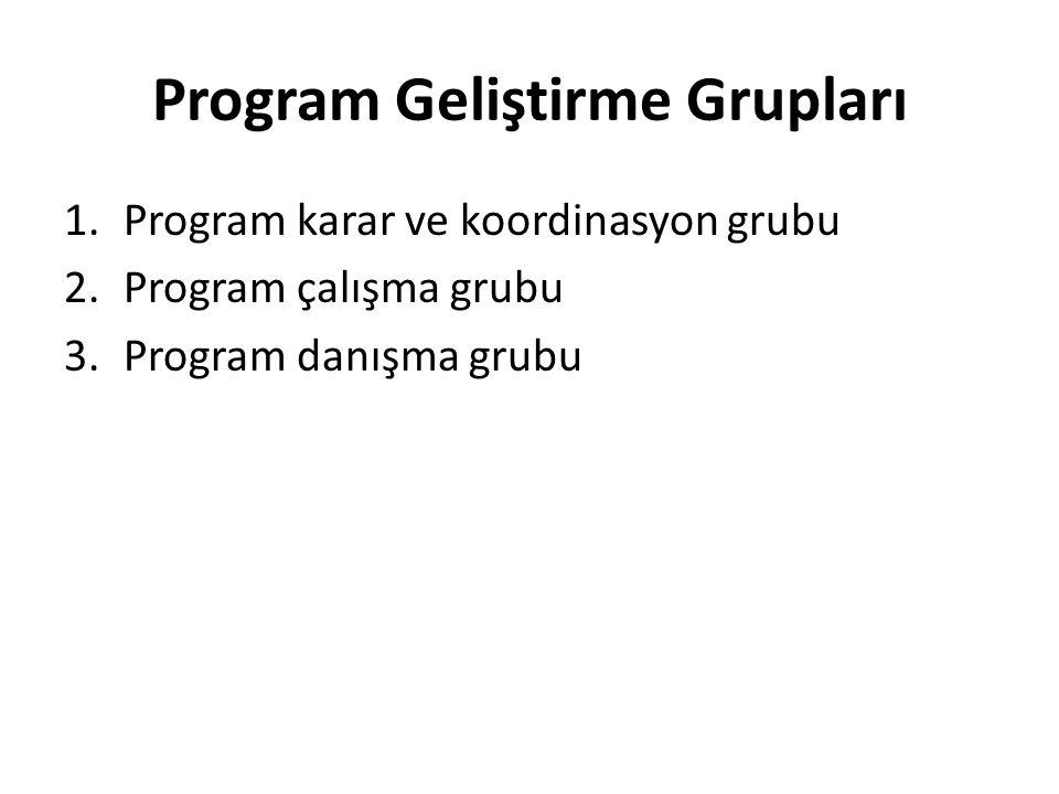 Program Geliştirme Grupları