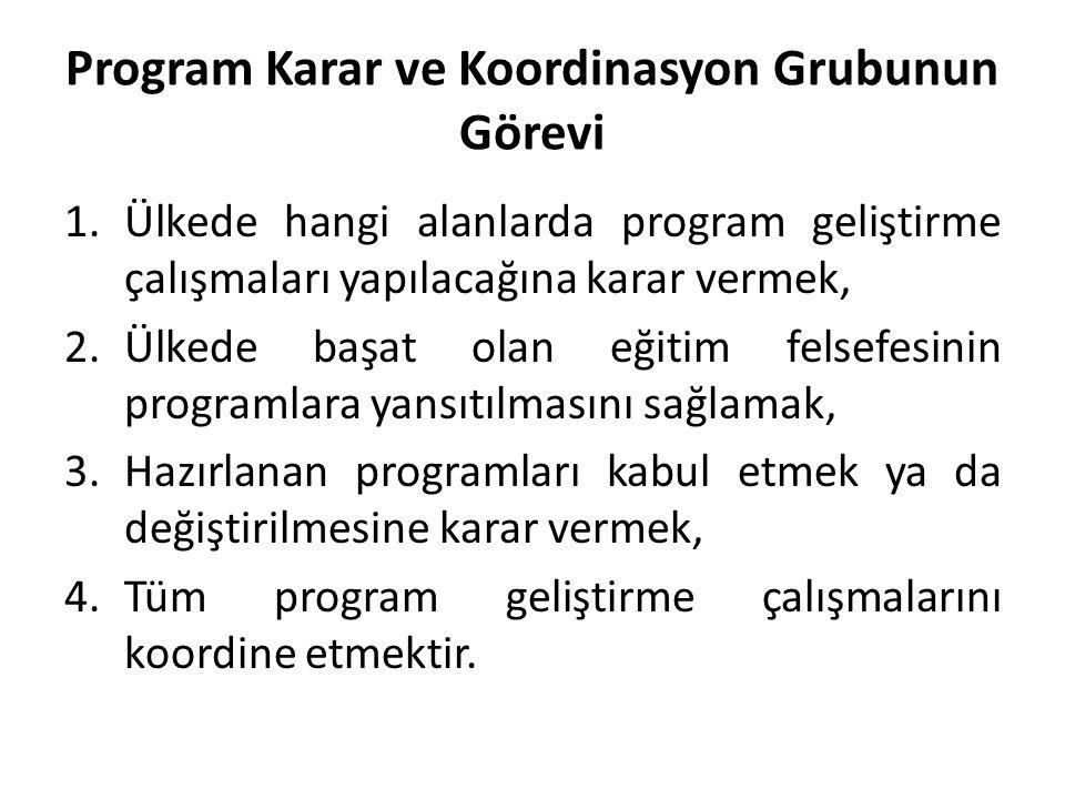 Program Karar ve Koordinasyon Grubunun Görevi