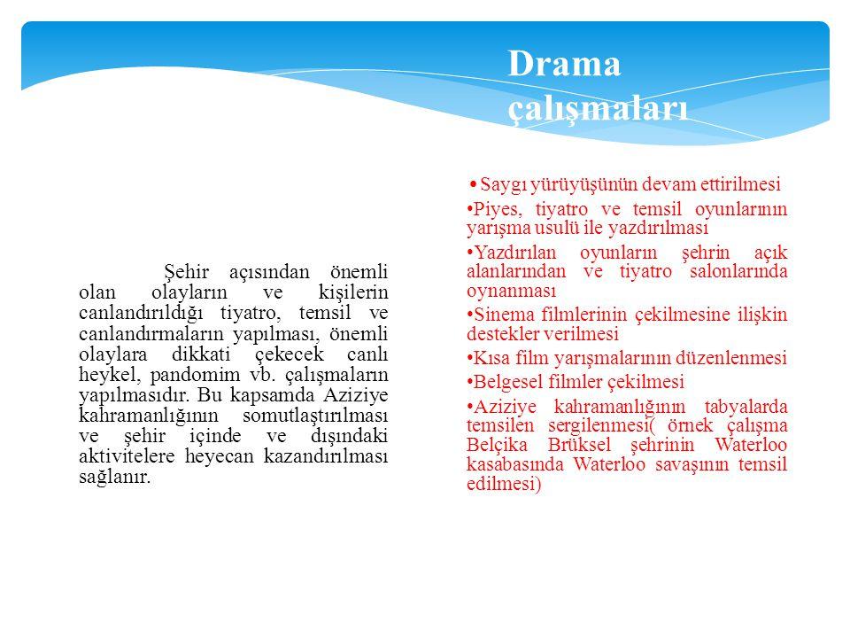 Drama çalışmaları •Saygı yürüyüşünün devam ettirilmesi