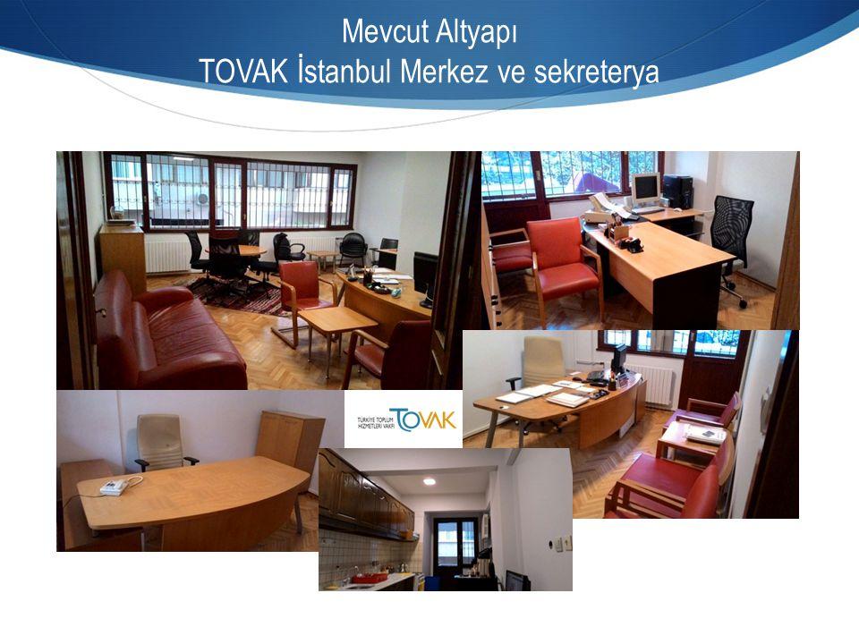 Mevcut Altyapı TOVAK İstanbul Merkez ve sekreterya