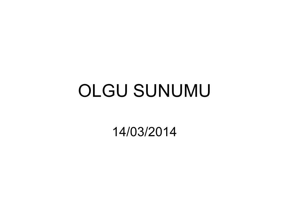 OLGU SUNUMU 14/03/2014