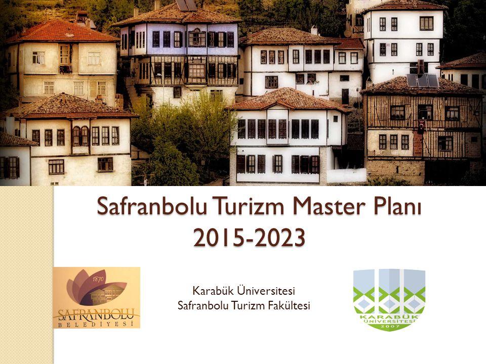 Safranbolu Turizm Master Planı 2015-2023