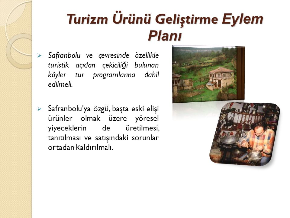 Turizm Ürünü Geliştirme Eylem Planı