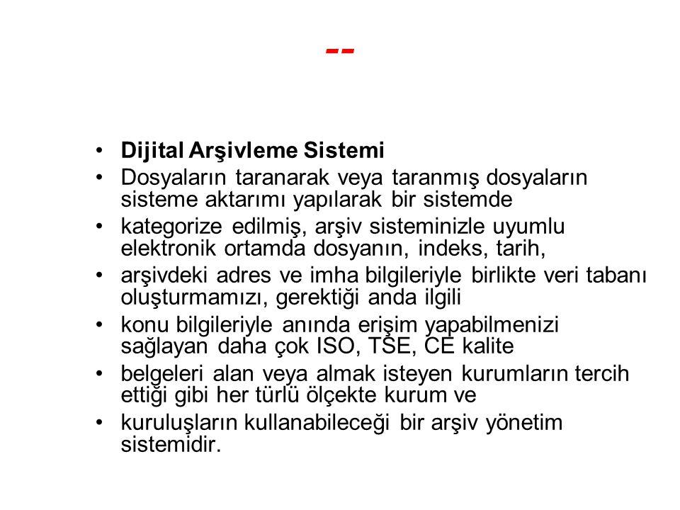 -- Dijital Arşivleme Sistemi