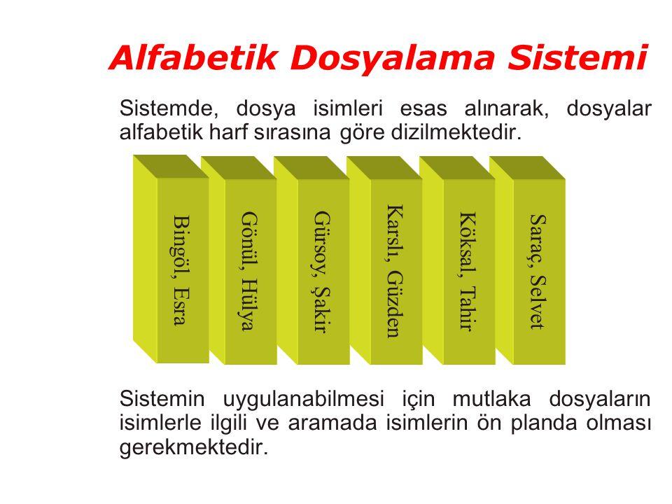 Alfabetik Dosyalama Sistemi