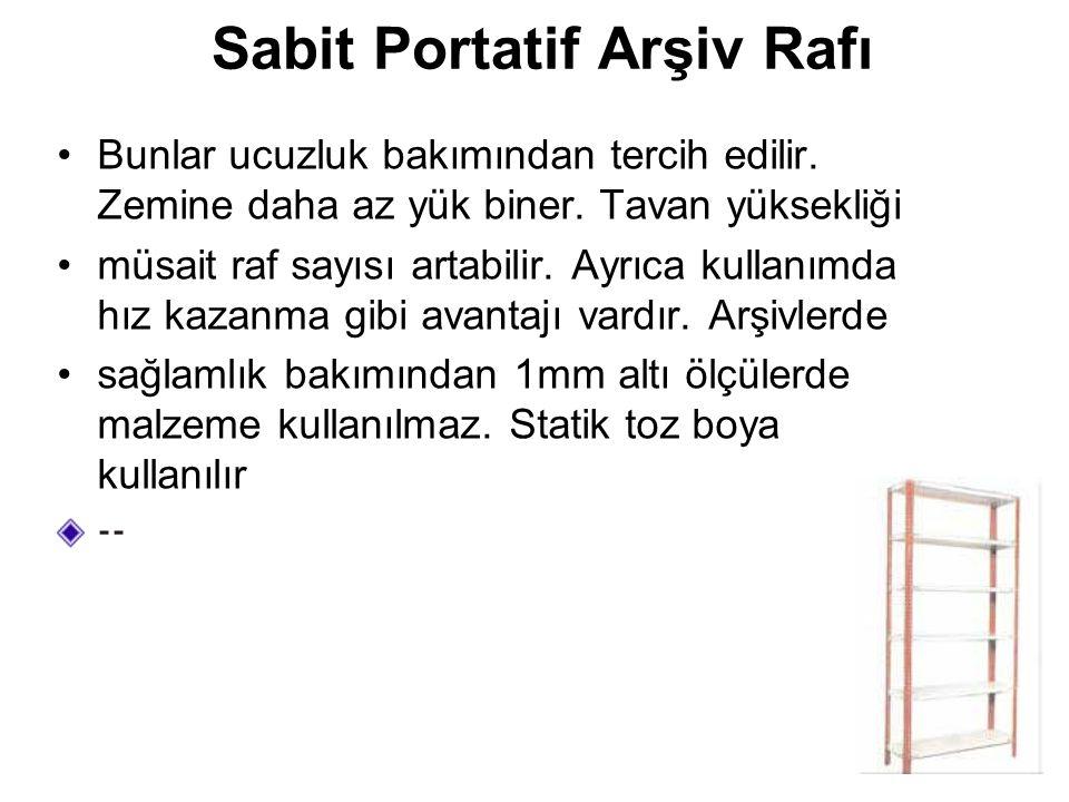 Sabit Portatif Arşiv Rafı