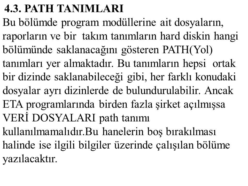 4.3. PATH TANIMLARI