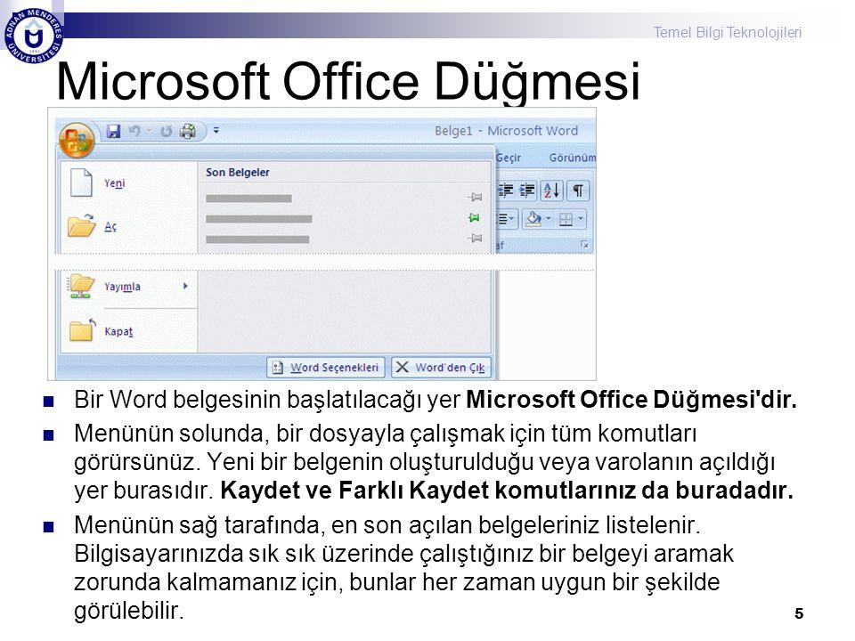 Microsoft Office Düğmesi