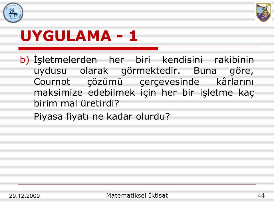 UYGULAMA - 1