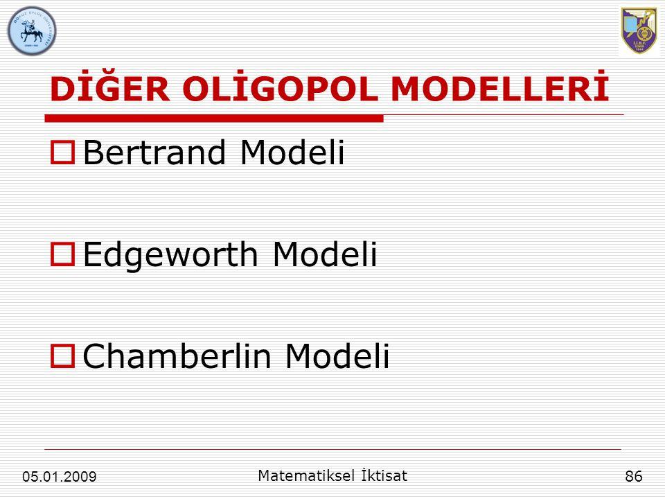 DİĞER OLİGOPOL MODELLERİ