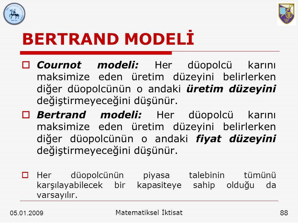 BERTRAND MODELİ