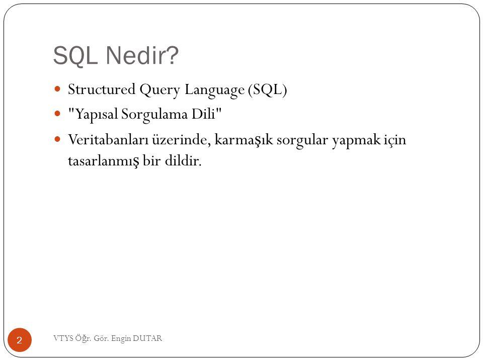 SQL Nedir Structured Query Language (SQL) Yapısal Sorgulama Dili