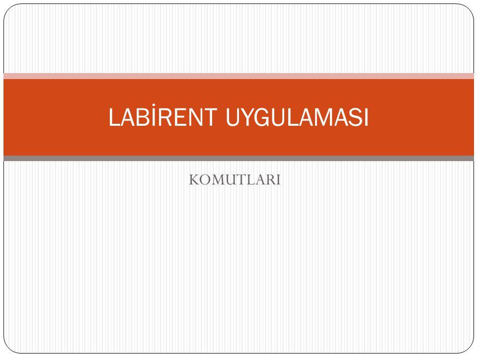 LABİRENT UYGULAMASI KOMUTLARI