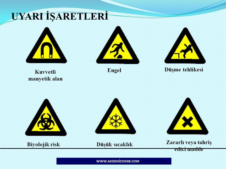 Kuvvetli manyetik alan Zararlı veya tahriş edici madde