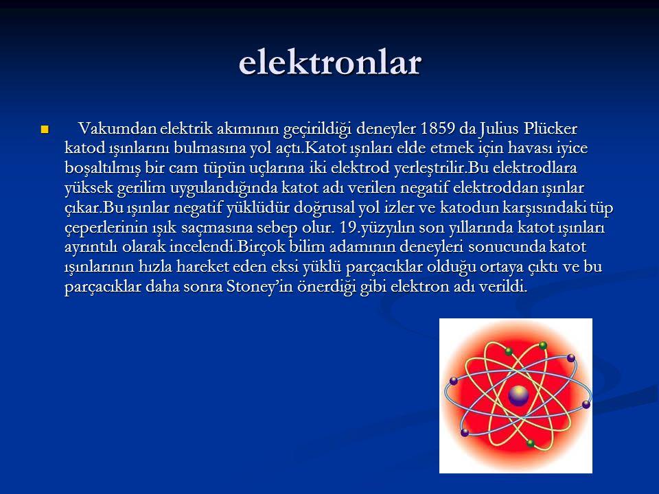 elektronlar