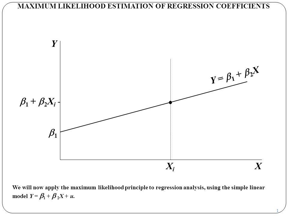 MAXIMUM LIKELIHOOD ESTIMATION OF REGRESSION COEFFICIENTS