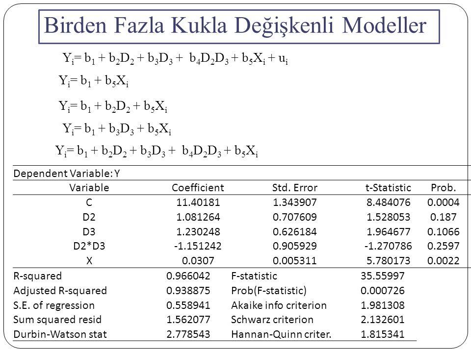 Birden Fazla Kukla Değişkenli Modeller
