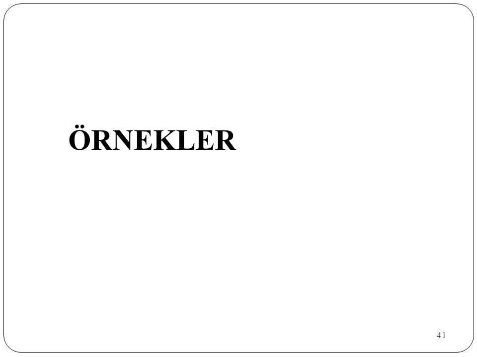 ÖRNEKLER 41