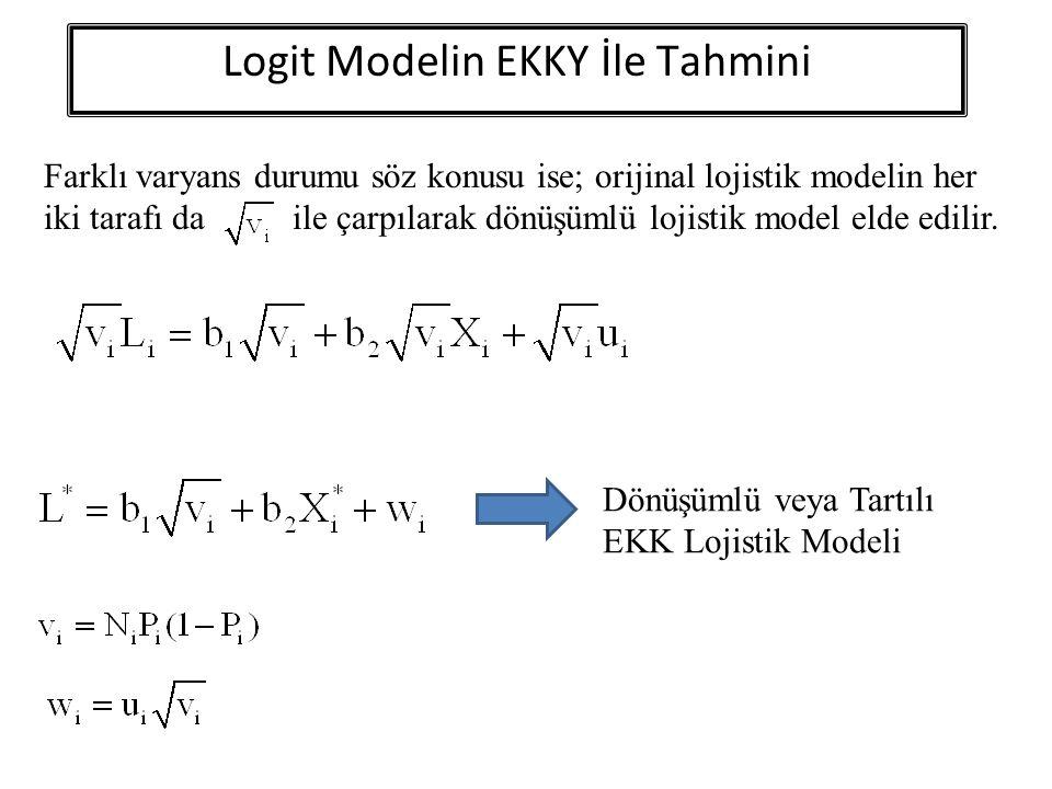 Logit Modelin EKKY İle Tahmini