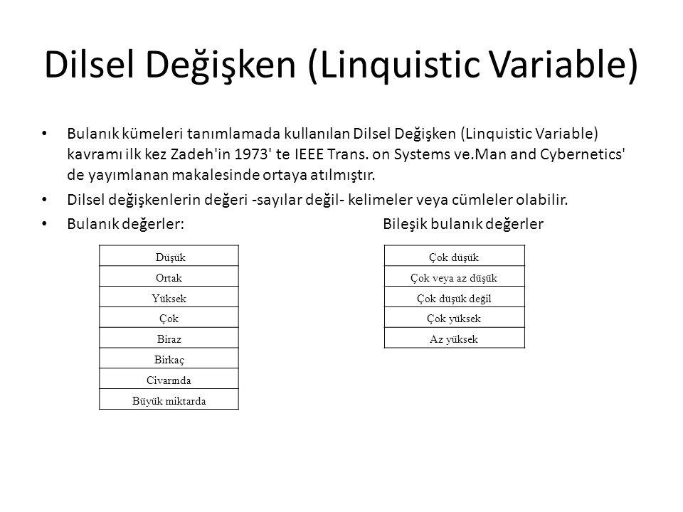 Dilsel Değişken (Linquistic Variable)