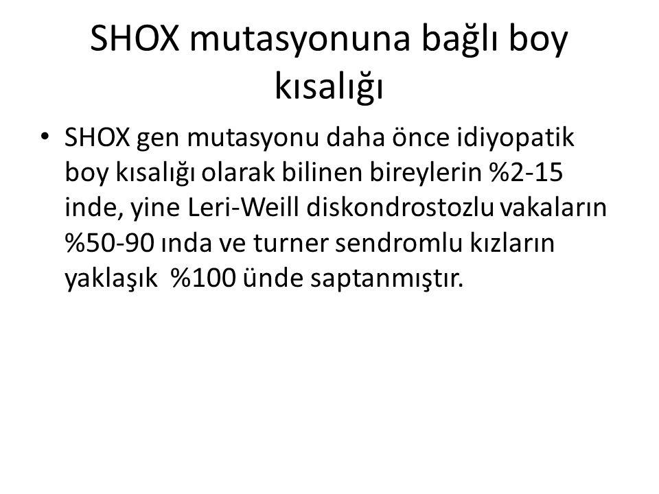 SHOX mutasyonuna bağlı boy kısalığı