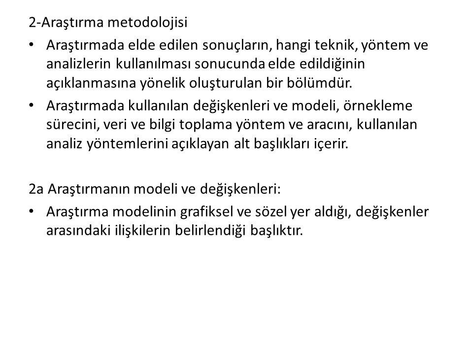 2-Araştırma metodolojisi