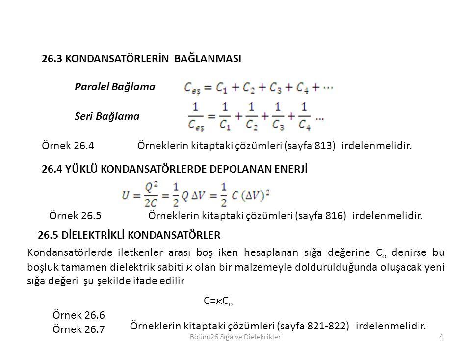 Bölüm26 Sığa ve Dielekrikler