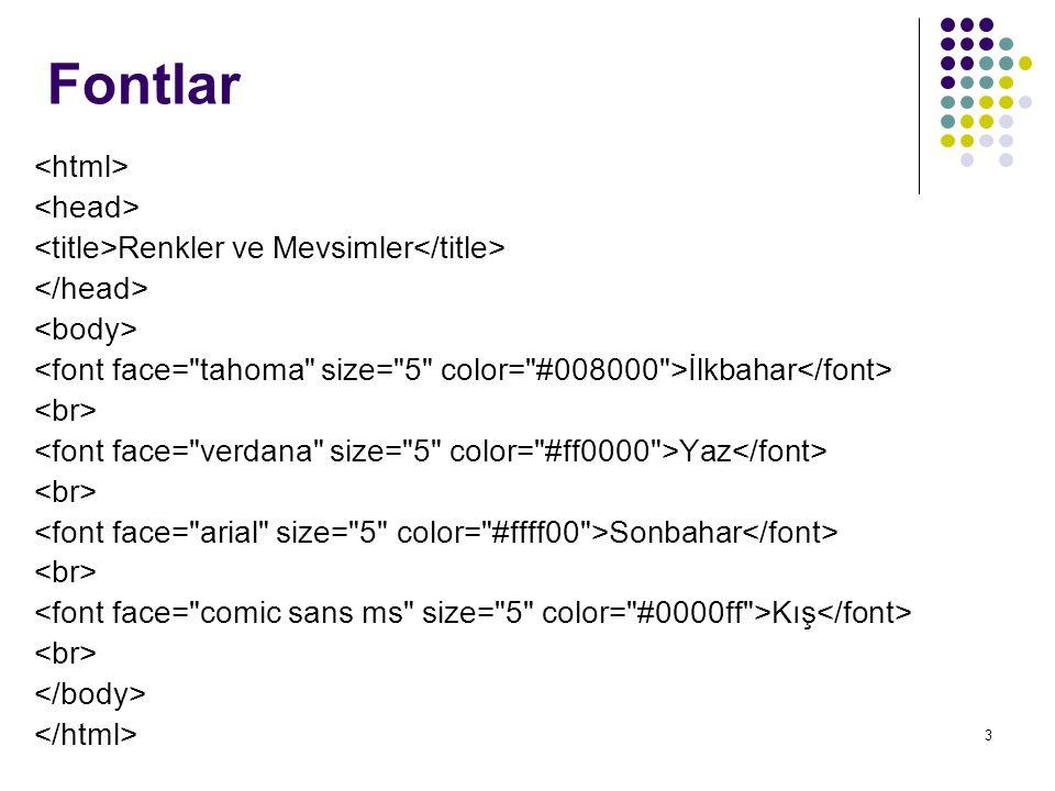 Fontlar <html> <head>