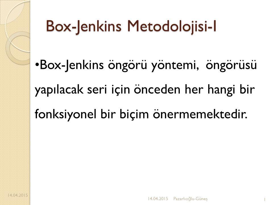 Box-Jenkins Metodolojisi-I