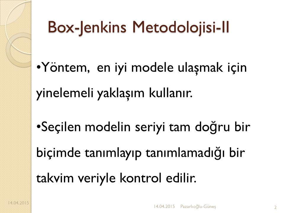 Box-Jenkins Metodolojisi-II
