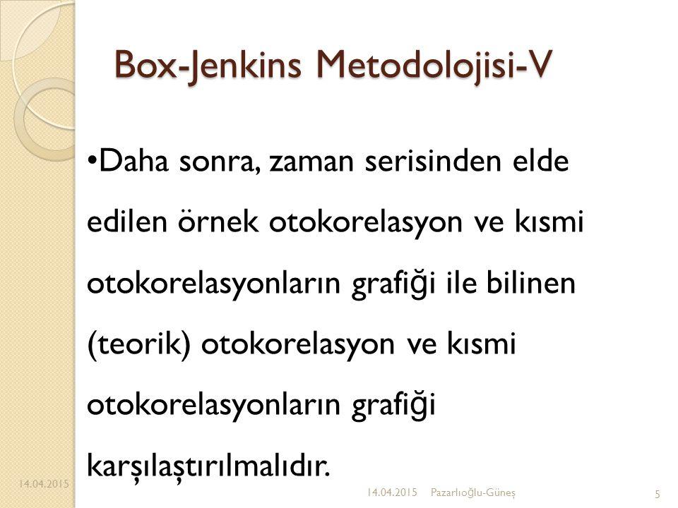 Box-Jenkins Metodolojisi-V