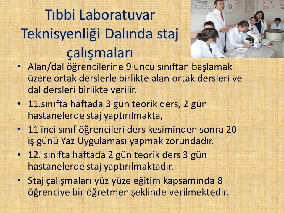 Tıbbi Laboratuvar Teknisyenliği Dalında staj çalışmaları