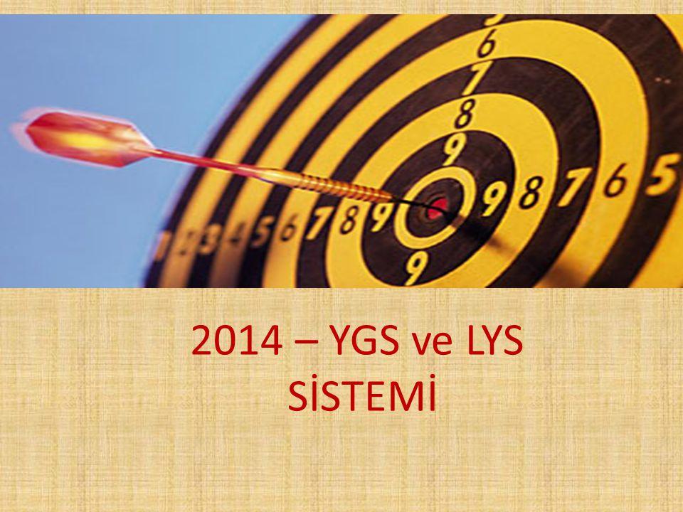 2014 – YGS ve LYS SİSTEMİ