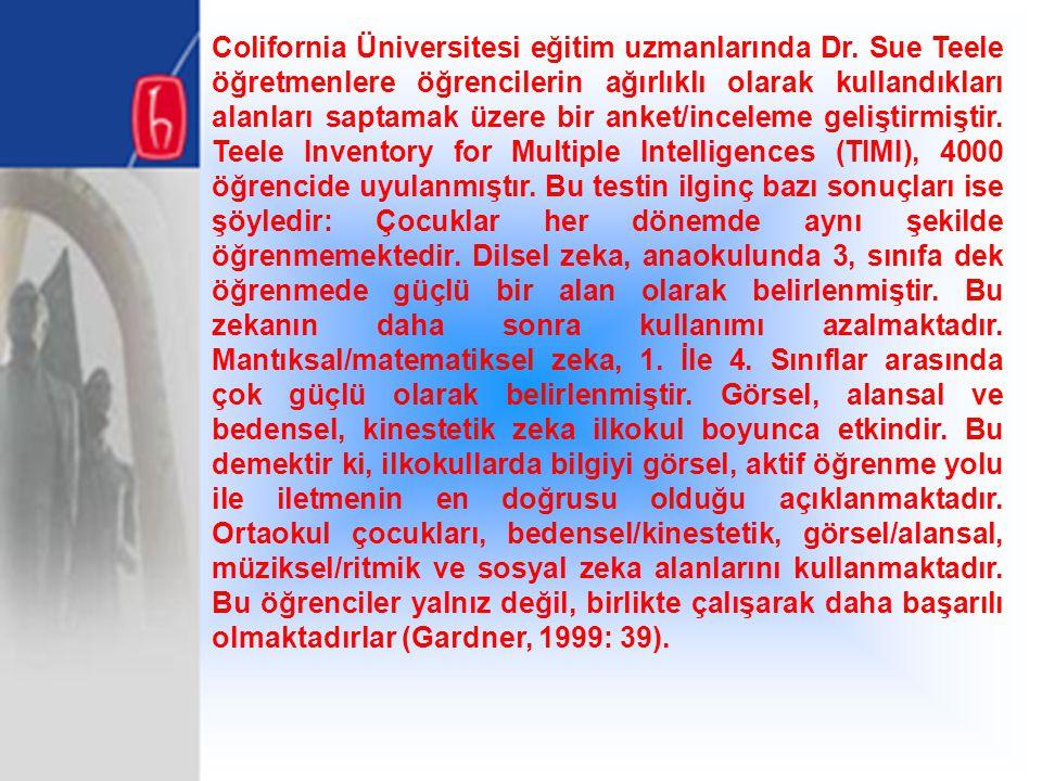Colifornia Üniversitesi eğitim uzmanlarında Dr