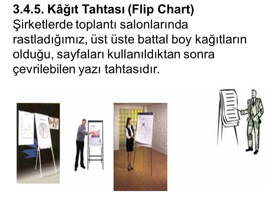 3.4.5. Kâğıt Tahtası (Flip Chart)