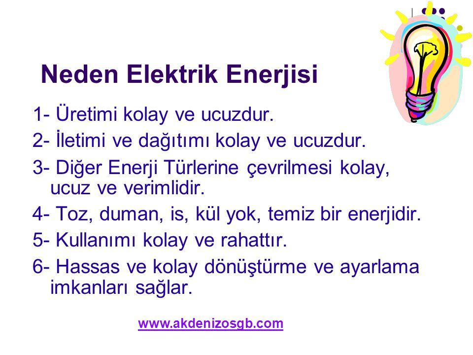 Neden Elektrik Enerjisi